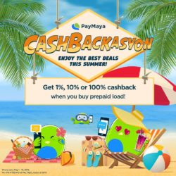 3 Ways to get Cashback using PayMaya this Summer